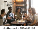 multi ethnic african and... | Shutterstock . vector #1016244148
