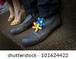image of a pair of grungy shoes ... | Shutterstock . vector #101624422