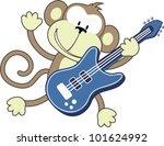 Illustration Of Funny Monkey...