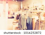 blurred luxury clothing store... | Shutterstock . vector #1016252872
