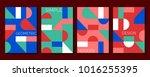 set of 4 simple geometric...   Shutterstock .eps vector #1016255395