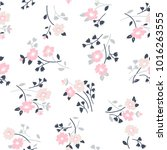 seamless floral pattern in folk ... | Shutterstock .eps vector #1016263555