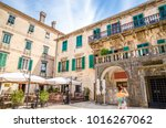 beautiful narrow streets of old ... | Shutterstock . vector #1016267062