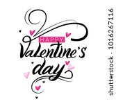 valentines day oblique... | Shutterstock .eps vector #1016267116