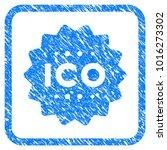 ico token grunge textured icon...   Shutterstock .eps vector #1016273302