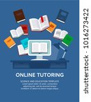 Online Tutoring. Vector...