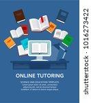 online tutoring. vector... | Shutterstock .eps vector #1016273422