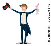 magician with a mustache on... | Shutterstock .eps vector #1016275648