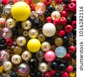 multi colored beads.colorful... | Shutterstock . vector #1016282116
