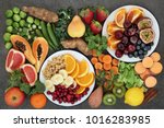 health food concept for a high... | Shutterstock . vector #1016283985