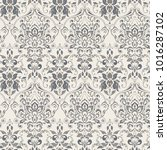 ornate damask vintage wallpaper.... | Shutterstock . vector #1016287102