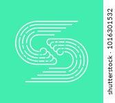 logo for surf school or surf... | Shutterstock .eps vector #1016301532