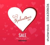 happy valentine's day creative... | Shutterstock .eps vector #1016308636