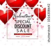 beautiful valentine's day sale... | Shutterstock .eps vector #1016308642