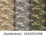 camouflage seamless pattern set....   Shutterstock .eps vector #1016311348