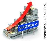 business  financial success... | Shutterstock . vector #1016311822