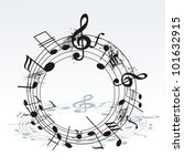 music notes twisted into a... | Shutterstock .eps vector #101632915