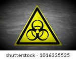 Grungy Biohazard Warning Sign...