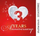 3 years anniversary firework... | Shutterstock .eps vector #1016335882