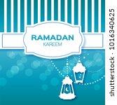 blue stripes ramadan kareem... | Shutterstock . vector #1016340625
