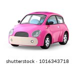 small cute pink car isolated on ... | Shutterstock . vector #1016343718
