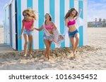 best friends teen girls group... | Shutterstock . vector #1016345452