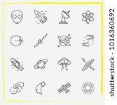 astronomy line icon set...   Shutterstock .eps vector #1016360692