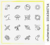 astronomy line icon set...   Shutterstock .eps vector #1016360716