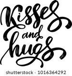vector illustration kisses with ... | Shutterstock .eps vector #1016364292