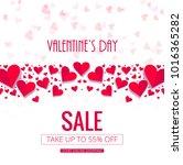 modern valentine's day sale... | Shutterstock .eps vector #1016365282