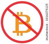 no bitcoin. not allowed sign ... | Shutterstock .eps vector #1016375125