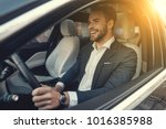 man of style and status.... | Shutterstock . vector #1016385988