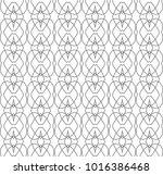 seamless geometric ornamental... | Shutterstock .eps vector #1016386468