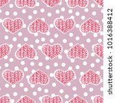 pink romantic background of... | Shutterstock . vector #1016388412