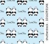 seamless baby pattern with cute ... | Shutterstock .eps vector #1016393146