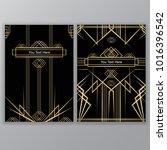 art deco a4frames set   vector... | Shutterstock .eps vector #1016396542