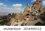cappadocia. fairy chimneys and... | Shutterstock . vector #1016400112