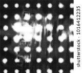 grunge halftone black and white ... | Shutterstock . vector #1016412235