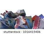 currency euro cash | Shutterstock . vector #1016415406