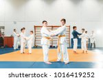kid judo  childrens training... | Shutterstock . vector #1016419252