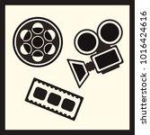 film industry vector set ... | Shutterstock .eps vector #1016424616