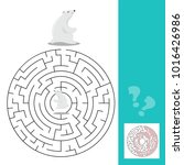 maze game for children with... | Shutterstock .eps vector #1016426986