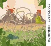 educational maze game. help... | Shutterstock .eps vector #1016427022