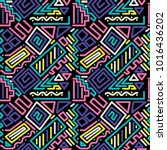 color lines pattern 90s   Shutterstock .eps vector #1016436202
