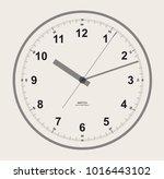 clockface desigm. circle shape | Shutterstock .eps vector #1016443102