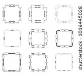 set of vector vintage frames on ... | Shutterstock .eps vector #1016445028