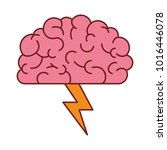 brain in side view with... | Shutterstock .eps vector #1016446078