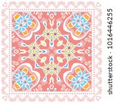 decorative colorful ornament on ... | Shutterstock .eps vector #1016446255