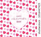 valentine's day heart | Shutterstock .eps vector #1016447425