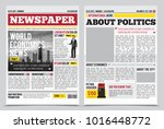 daily newspaper journal design... | Shutterstock . vector #1016448772